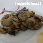 Hamburger ai funghi e parmigiano