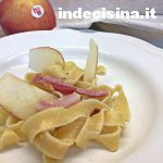 Pappardelle mela gorgonzola e speck