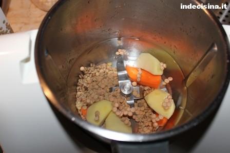 Crema di lenticchie bambini bimby