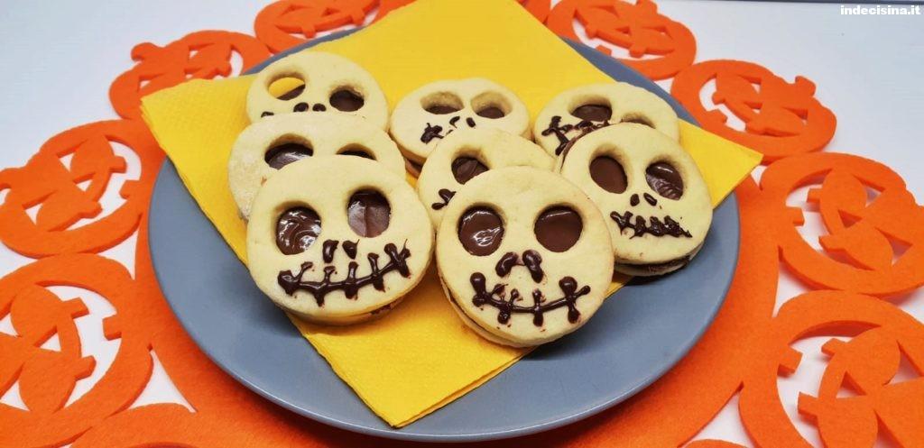 Biscotti alla nutella per halloween